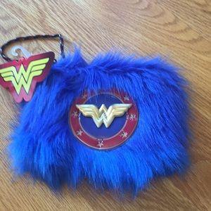 Fuzzy Wonder Woman bag